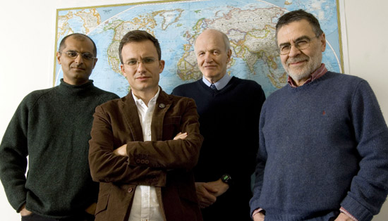 From left Zia Mian, Alexander Glaser, Frank Von Hippel, and H. A. Feiveson are scientists who are part of the International Panel on Fissile Materials. (Photo by Colin Archer / For The Star Ledger)
